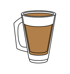 Coffee glass design vector