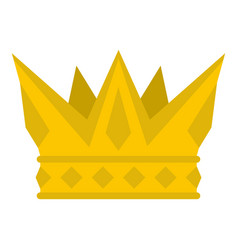 cog crown icon isolated vector image