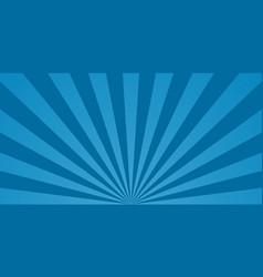 Comic starburst blue background with sunburst vector