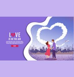 couples hold hands in garden sky is vector image