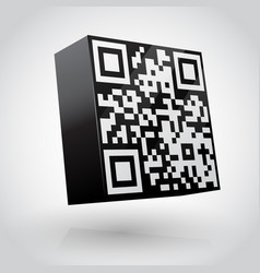 Cube with qr code vector