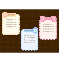 cute pastel colorful flower text dialog box or vector image