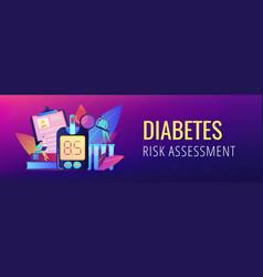 Diabetes mellitus concept banner header vector
