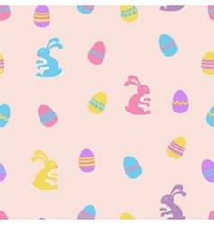 Easter bunny and eggs seamless pattern vector