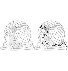 Easy beach ball maze vector