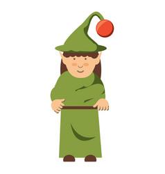 Elf girl icon vector