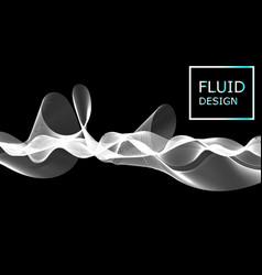 flow shapes design liquid wave background vector image
