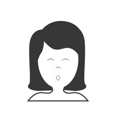 Girl sleeping icon resting and sleep design vector