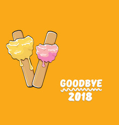 Goodbye 2018 year concept with vector