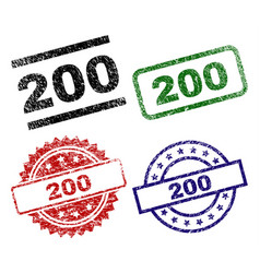 grunge textured 200 stamp seals vector image