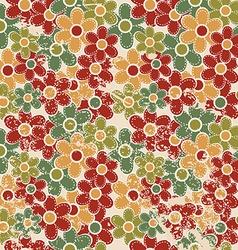 Grunge vintage floral seamless vector image