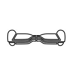 Gyroboard black icon vector