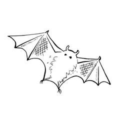 Halloween doodle element isolated vector
