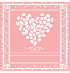 Heart floral framework vector