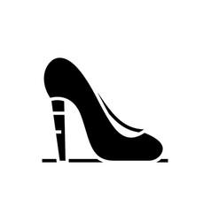 high heels black icon concept vector image