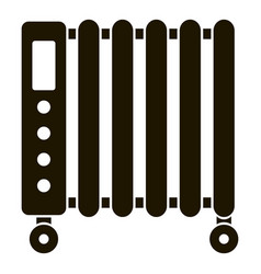 Home heater icon simple style vector