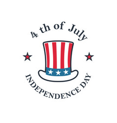 independence day of the usa 4th july uncle sam vector image