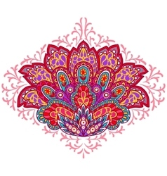 Indian ethnic ornament Hand drawn decorative vector image