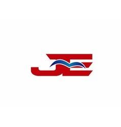 JE Logo Graphic Branding Letter Element vector