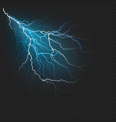 lightning flash light realistic effect eps 10 vector image