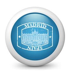 Madrid Postage icon vector image