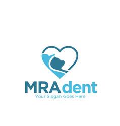 magnetic resonance imaging dent sleep love logo vector image