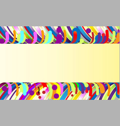 modern abstract background frame composition made vector image