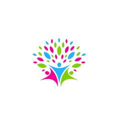 nature people logo icon design vector image