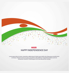 Niger happy independence day background vector