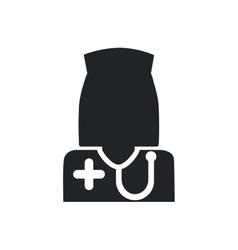 Nurse medical health care silhouette icon vector