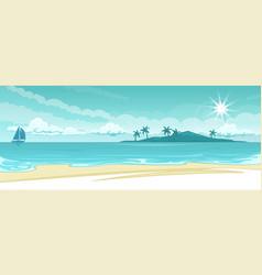 ocean lanscape vector image