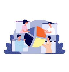 online business collaboration service project vector image