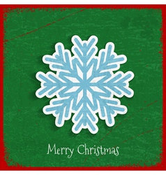 Paper snowflake on Christmas vintage background vector image