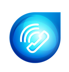 Phone support call center button vector
