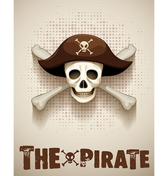Pirate theme with pirate skull vector