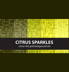 polka dot pattern set citrus sparkles seamless vector image