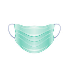 Ppe surgical mask icon corona virus covid 19 vector