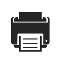 Printer bold black silhouette icon isolated vector