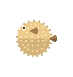Purcupine Fish Primitive Style Childish Sticker vector