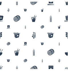 Rice icons pattern seamless white background vector