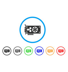 Ripple video gpu card rounded icon vector