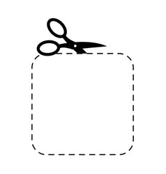 scissors square template sign symbol cut with vector image