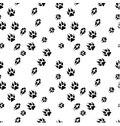 Seamless background of animals tracks vector