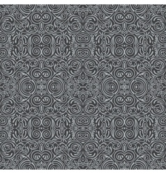 Seamless black pattern with art ornament vector