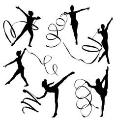 Set rhythmic gymnastics vector