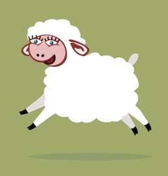 Sheep jump color vector image