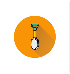 shovel icon on white background vector image