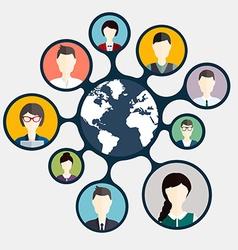Social networking and social media avatar concept vector