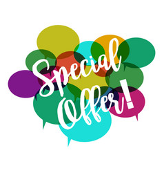 special offer on white background flat style vector image