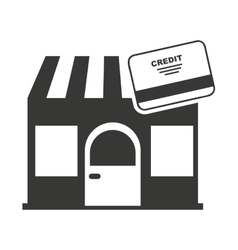 store building with commercial isolated icon vector image